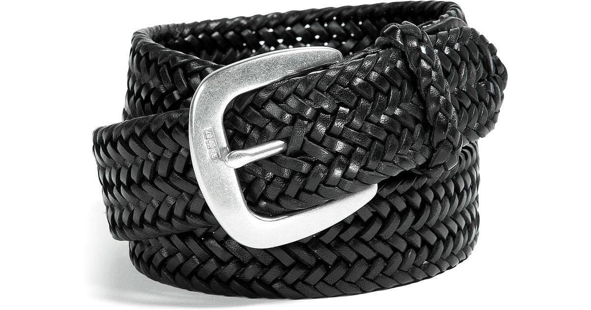 Lyst Polo Ralph Lauren Black Derby Braided Leather Belt In Black