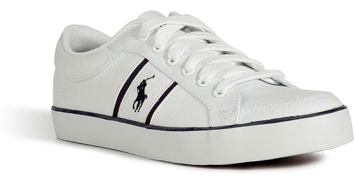 Lyst - Polo Ralph Lauren Pure White Canvas Bolingbrook Sneakers in White for  Men e6f0141dda