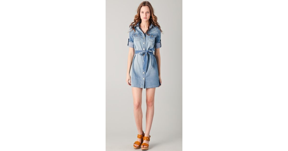 c3b522aae7a Lyst - Tory Burch Brigitte Denim Dress in Blue