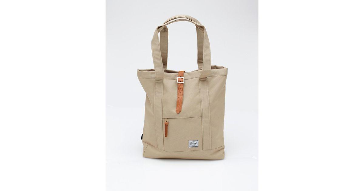 0bb53bd925c5 Lyst - Herschel Supply Co. Market Tote Bag in Natural for Men