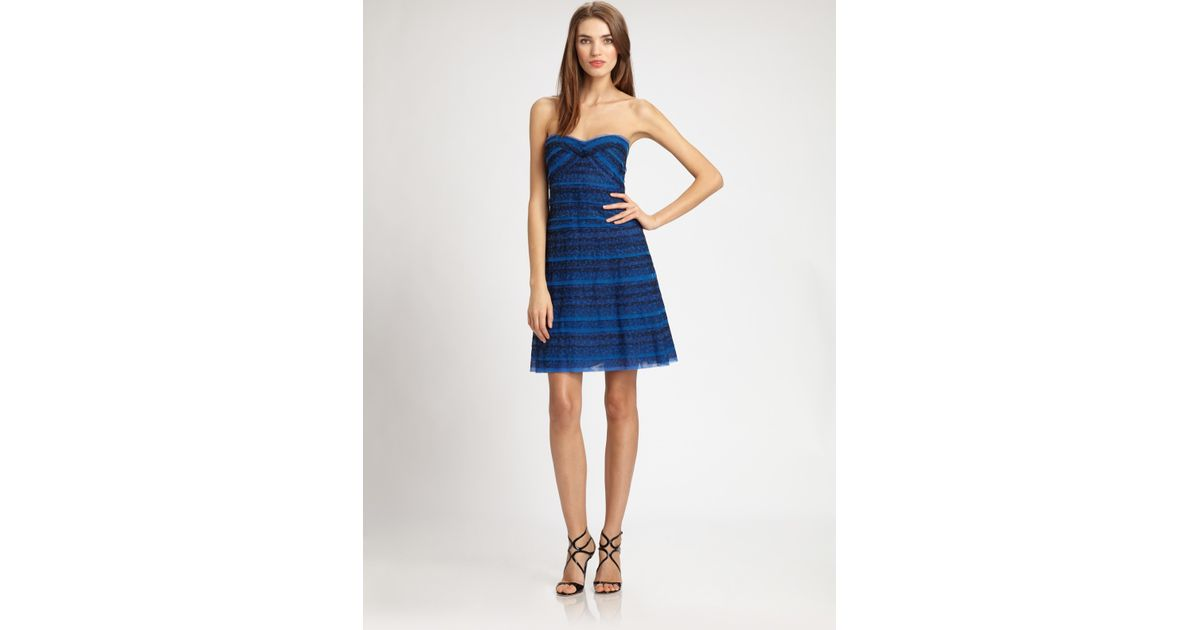 6af42875db7 BCBGMAXAZRIA Valentine Dress in Blue - Lyst
