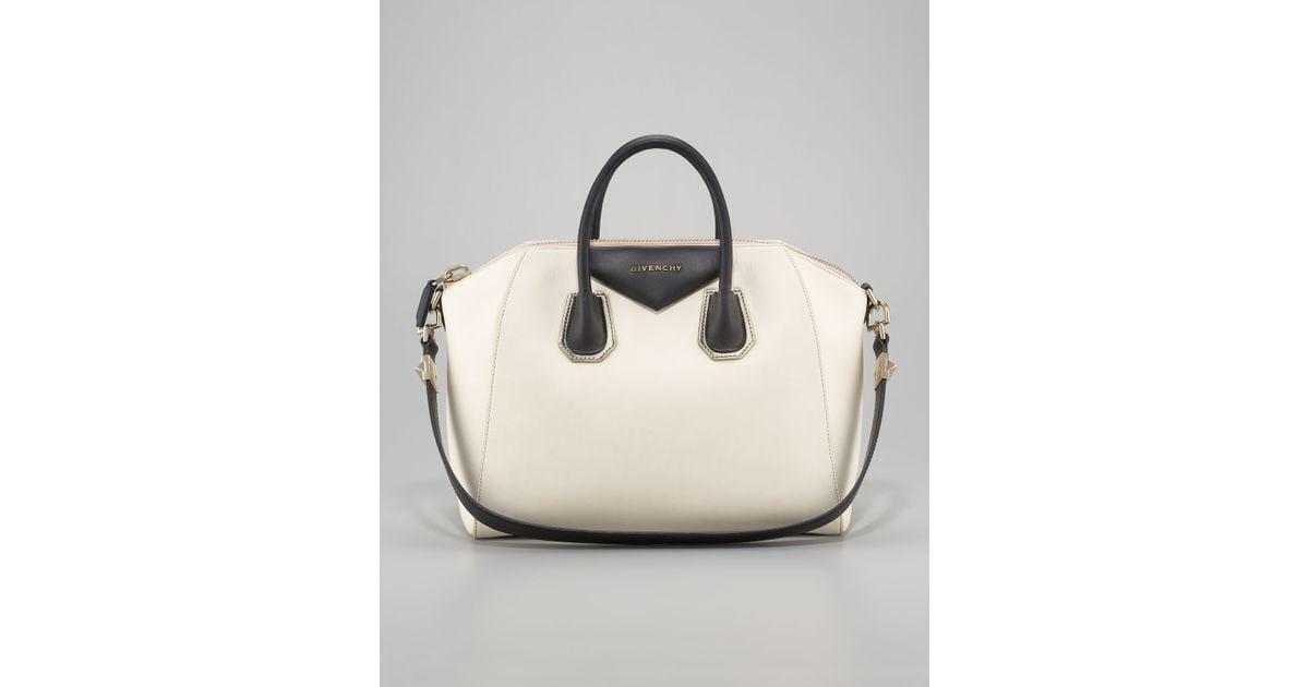 31a65611f2 Lyst - Givenchy Antigona Twotone Scuba Handbag in Natural