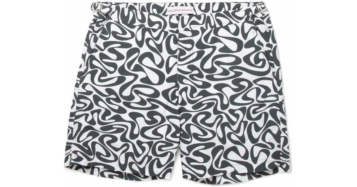 1d3a242775 Lyst - Orlebar Brown Bulldog Waterprint Swim Shorts in Black for Men