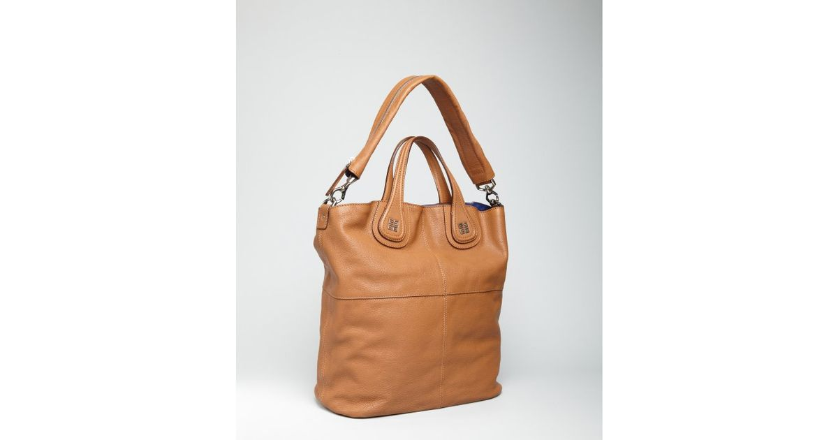 Lyst - Givenchy Camel Leather Nightingale Shopper Tote in Blue 69671850063ac