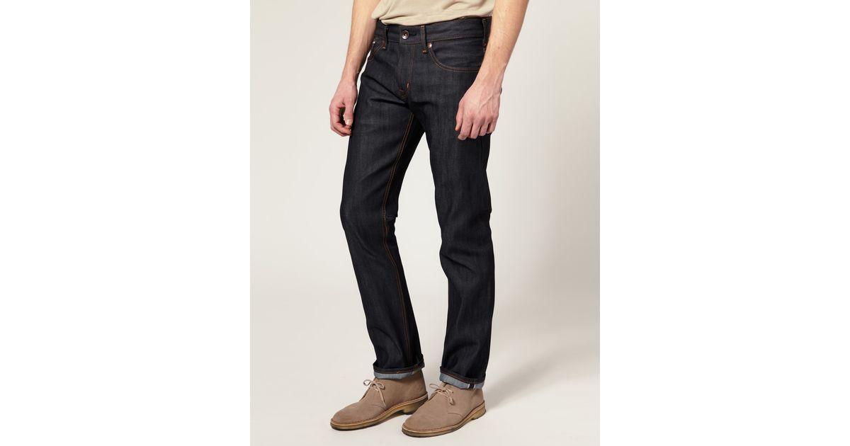 0bc8d4e8648 Lyst - Edwin Edwin Sen Japanese Red Selvedge Skinny Jeans in Blue for Men