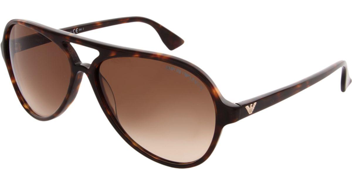 dbafa3e00db0 Emporio Armani Emporio Armani Aviator Sunglasses in Brown for Men - Lyst
