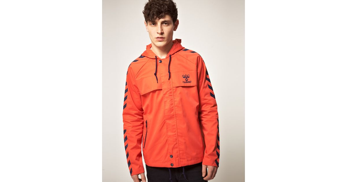 e7ed84b48e7 Hummel Hummel Cotton Canvas Hooded Jacket in Red for Men - Lyst