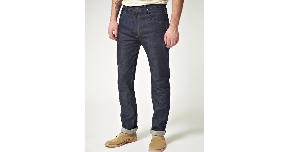 25aaac14 Lee Jeans Lee 101 Rider Selvedge Slim Fit Jeans in Blue for Men - Lyst