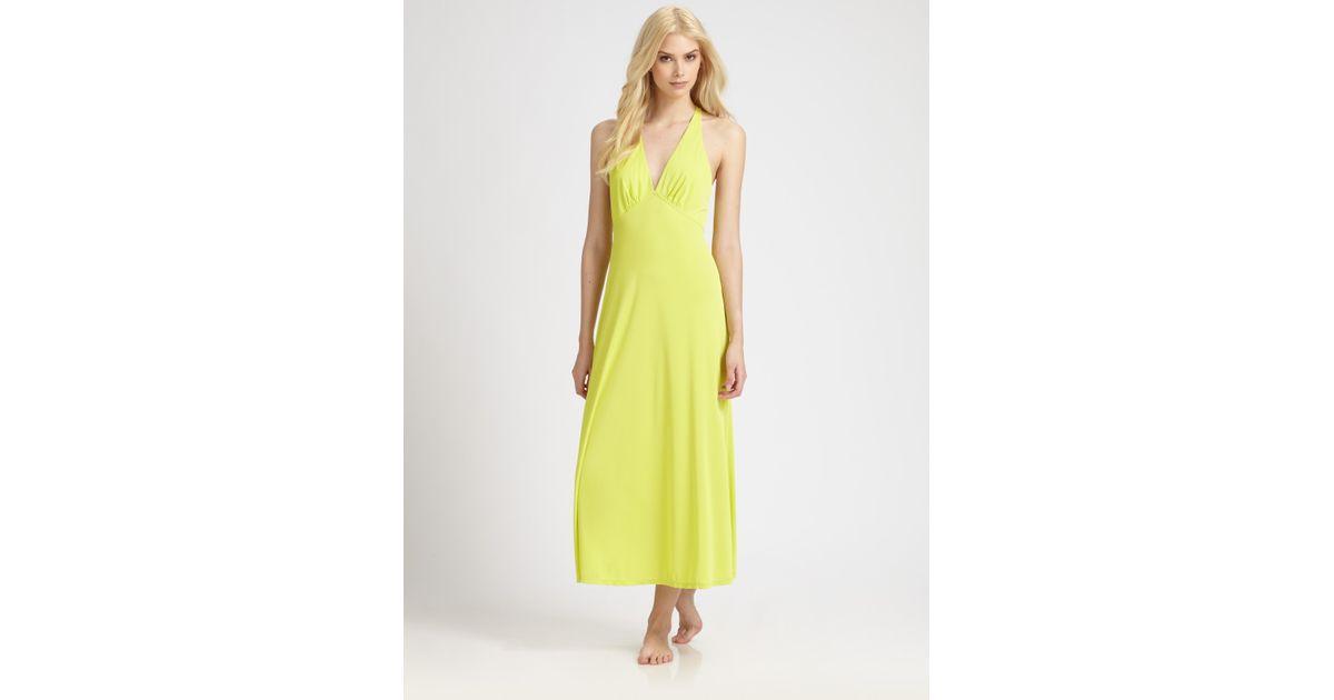 Lyst - Natori Aphrodite Gown in Yellow