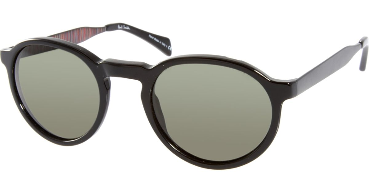 81dcdbdfc Paul Smith Elson Round Sunglasses in Black for Men - Lyst