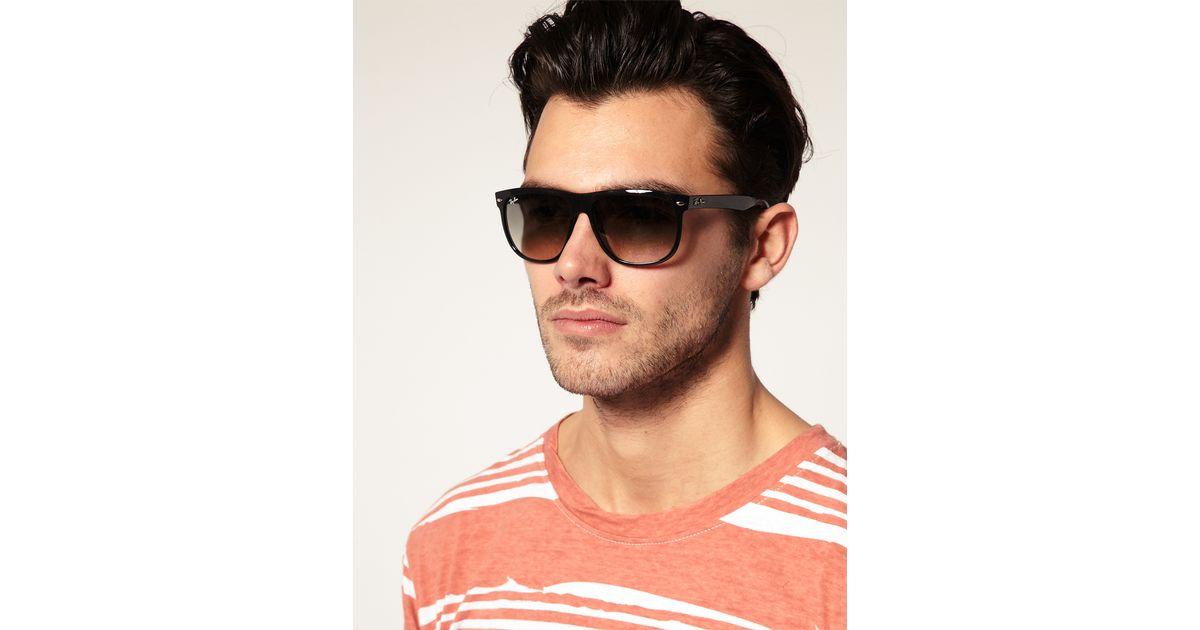 17ef832c0fbc6 ... discount lyst ray ban rayban flat brow wayfarer sunglasses in black for  men 22777 70722
