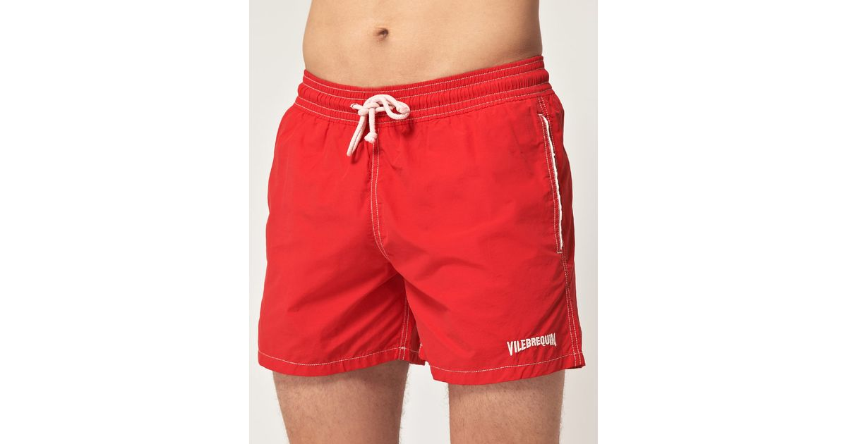 Lyst - Vilebrequin Vintage Swim Shorts in Red for Men e0cbc6400