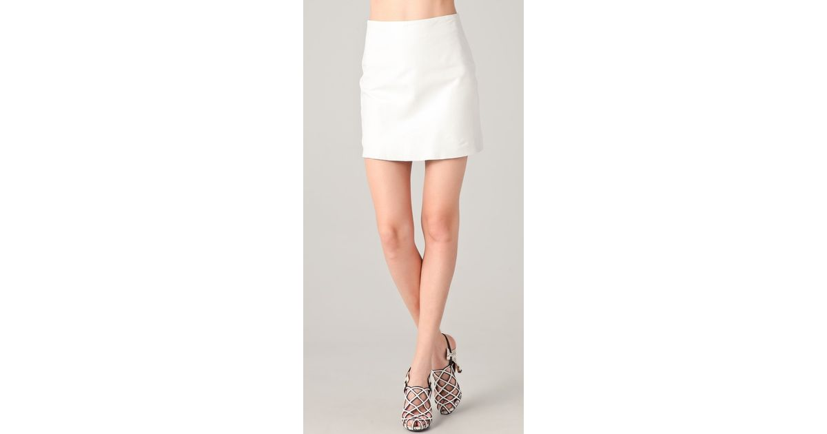 white leather mini skirt dress