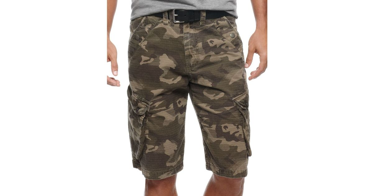 de6ec77d6e Marc Ecko Salute Camo Shorts in Green for Men - Lyst
