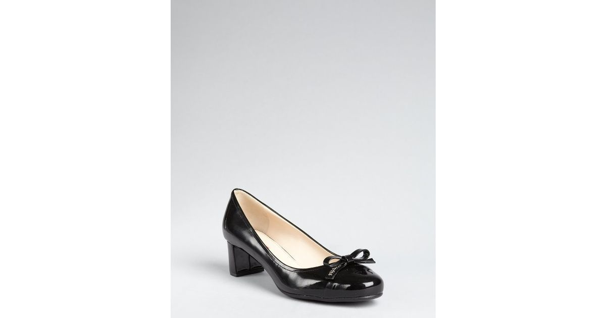 cheap low price Prada Sport Leather Bow Pumps outlet huge surprise extremely cheap online GIeUwqvQW