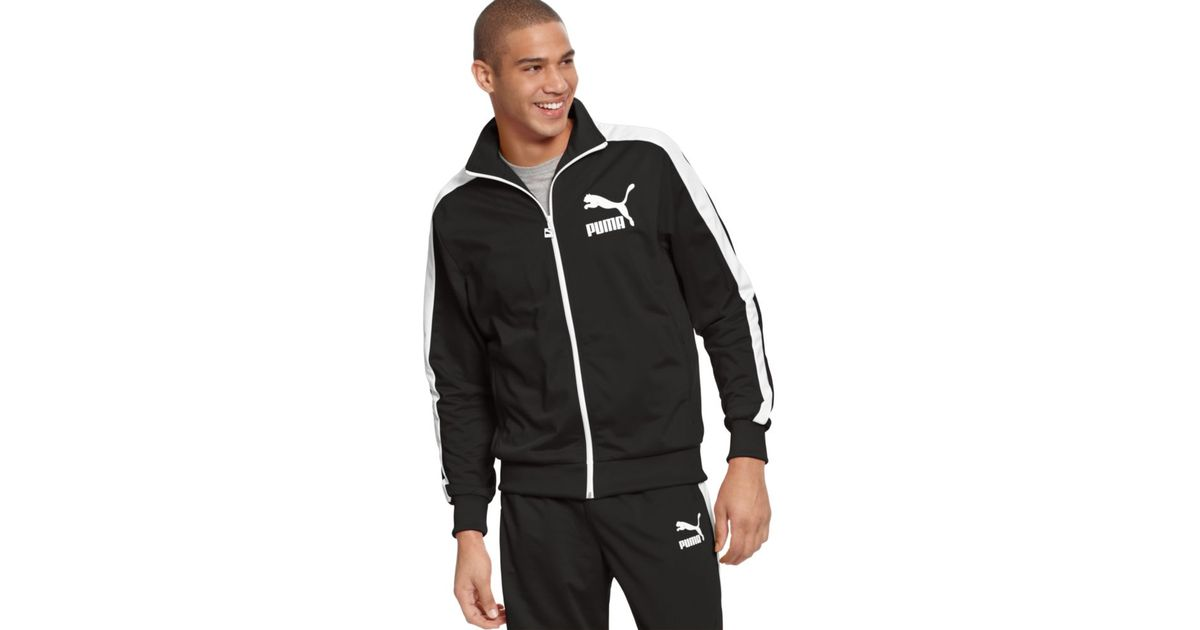7688459a73663 Lyst - PUMA Heroes T7 Track Jacket in Black for Men