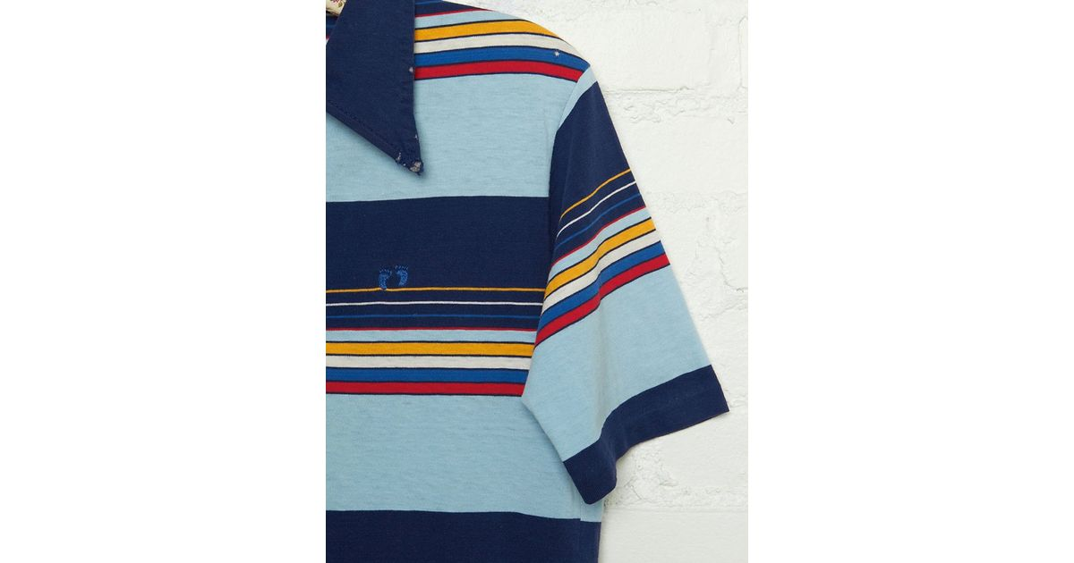 b783d547 Free People Vintage Hang Ten Striped Polo Shirt in Blue - Lyst