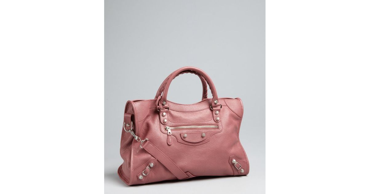 Lyst Balenciaga Dusty Rose Leather City Convertible Shoulder Bag In Pink