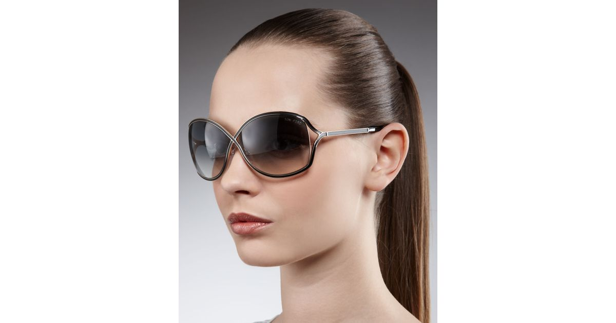 97307abec080 Lyst - Tom Ford Rickie Round Open Temple Sunglasses in Black