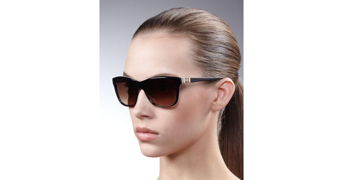 e48674fd40 Lyst - Tory Burch Plastic Square Sunglasses in Brown
