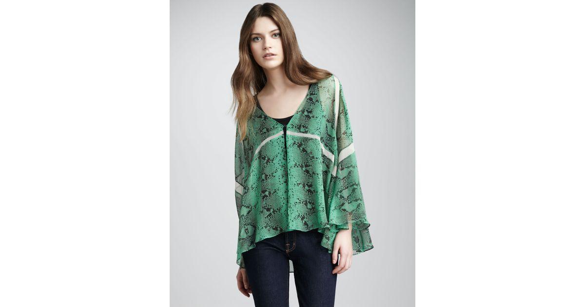 89838d62c57cb Lyst - Elizabeth and James Sasha Snakeprint Kimono Top