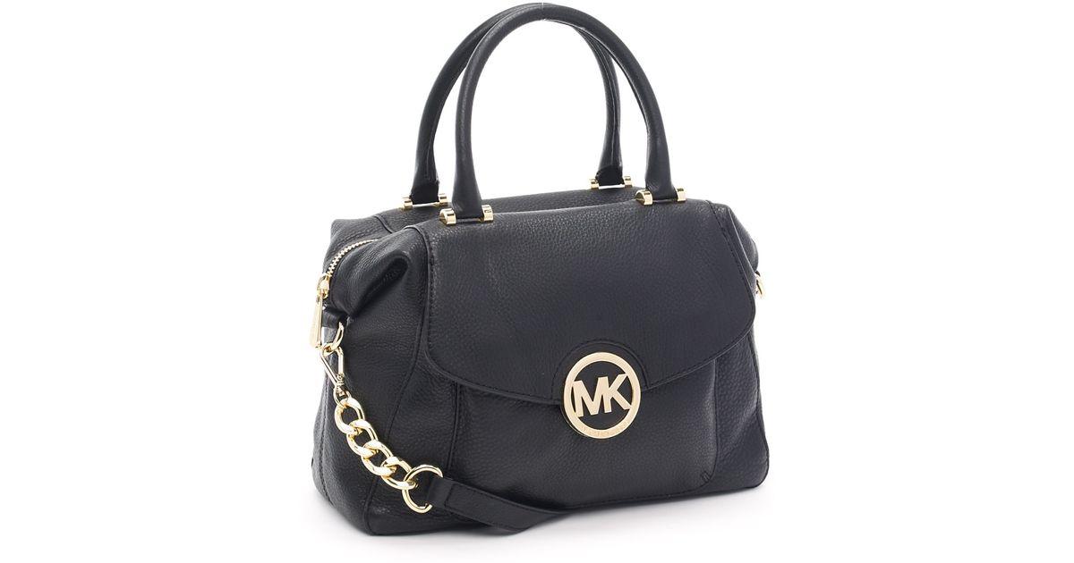 00f395342396f9 ... where to buy lyst michael michael kors large fulton satchel black in  black 589e3 0ef71