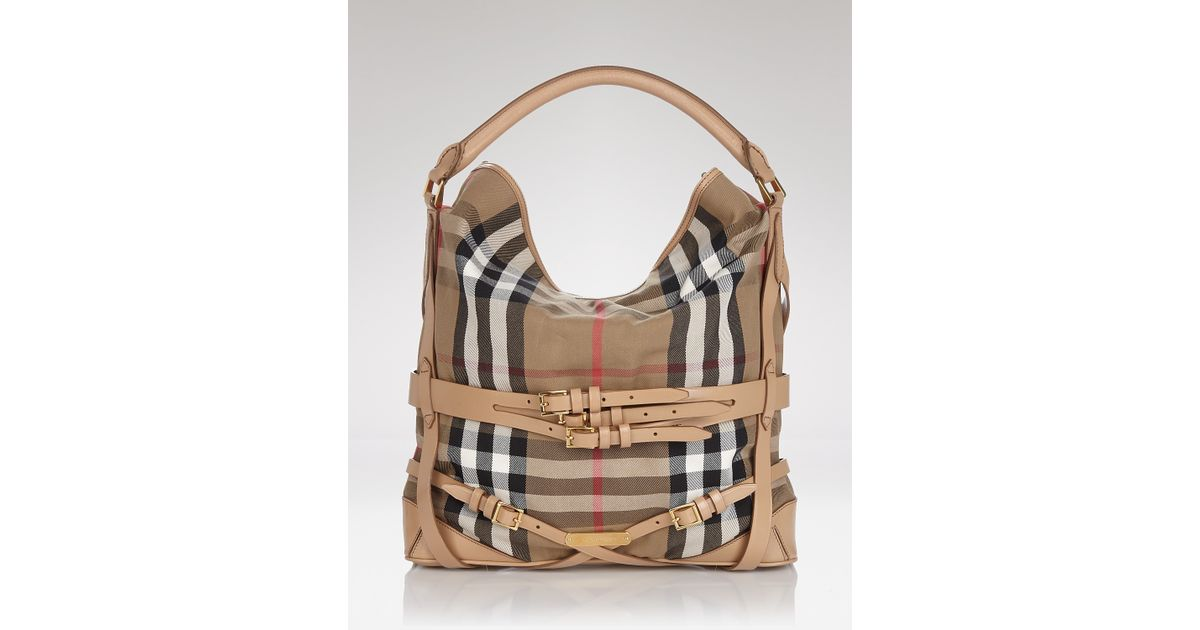 0948744600ec Lyst - Hobo Burberry Bridle House Check Gosford in Natural
