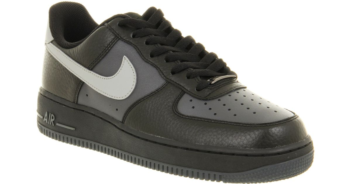 ... zappos Nike Air Force One Mens Black Med Grey in Black for Men ...