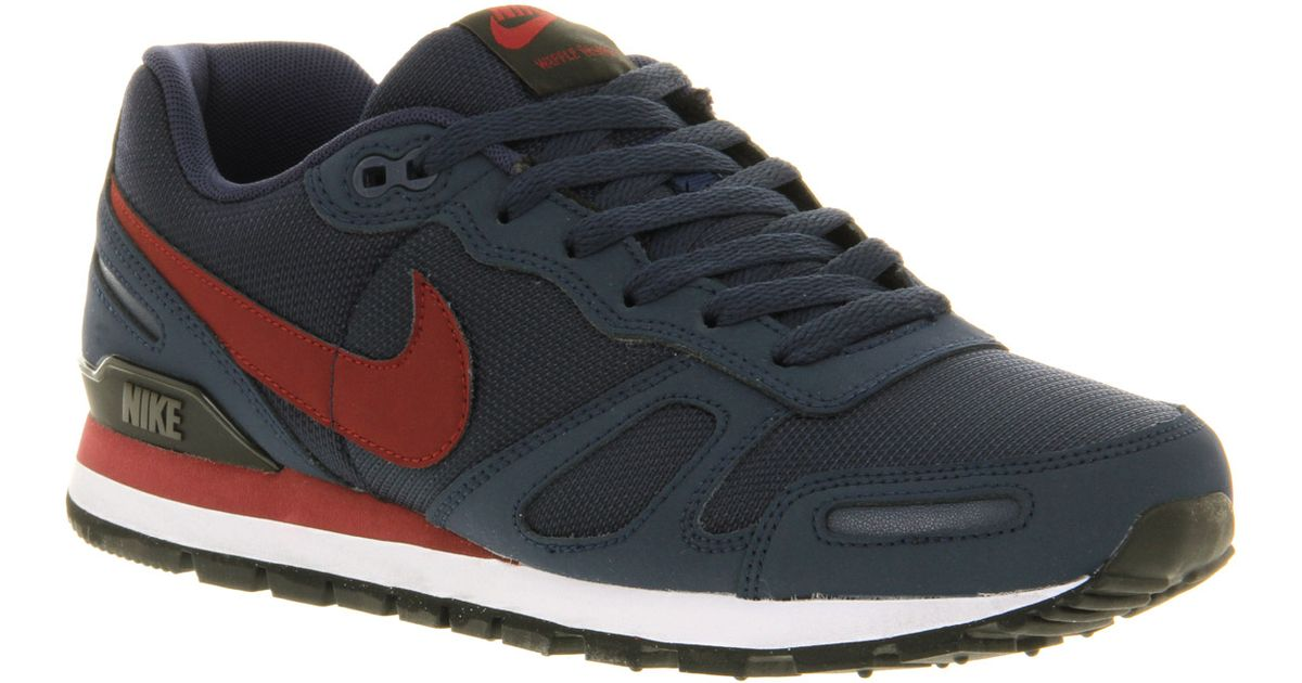 Lyst - Nike Air Waffle Trainer Mdnt Navyred in Blue for Men 01316a74a