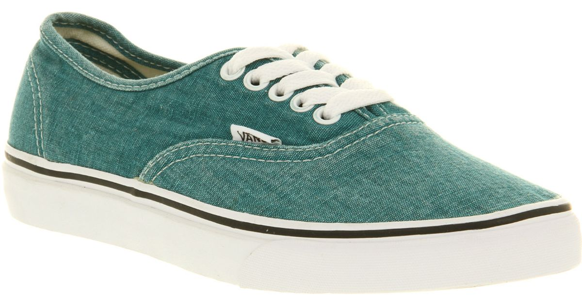 cfacd7176e Lyst - Vans Authentic Washed Grn Smu in Green for Men