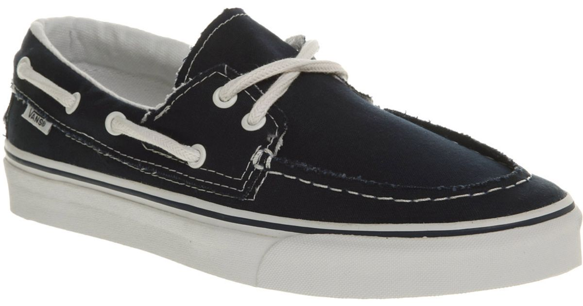 6cef99d6f59a Vans Zapato Del Barco Navywhite in Black for Men - Lyst