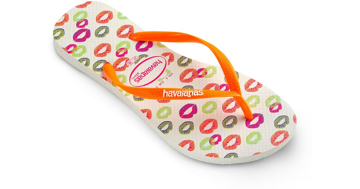 822760e72982 Lyst - Havaianas Flip Flops Slim Cool Lips