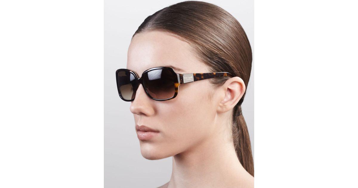 ccb42e0748e Lyst - Kate Spade Lulu Square Sunglasses in Brown - Save 36%