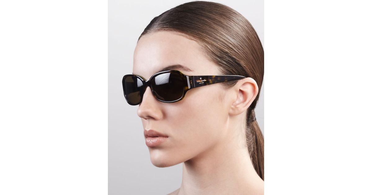 3255b7ee8065 Kate Spade Briar Polarized Sunglasses Tortoise in Black - Lyst