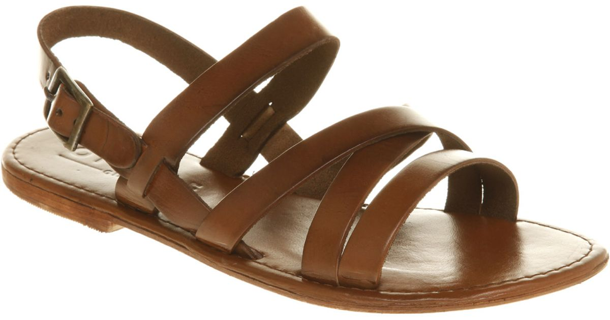 28e7e0ddfa5c Office Strider Sandal Tan Leather in Brown - Lyst
