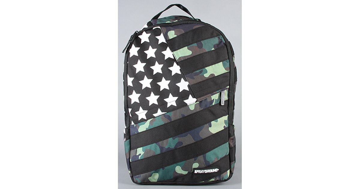 6fad4d404a68 Lyst - Sprayground The Camo Usa Backpack in Multi in Black for Men