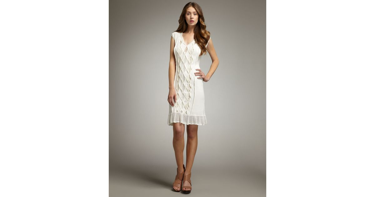 Nanette Lepore Pretty Woman Crochet Dress In White Lyst
