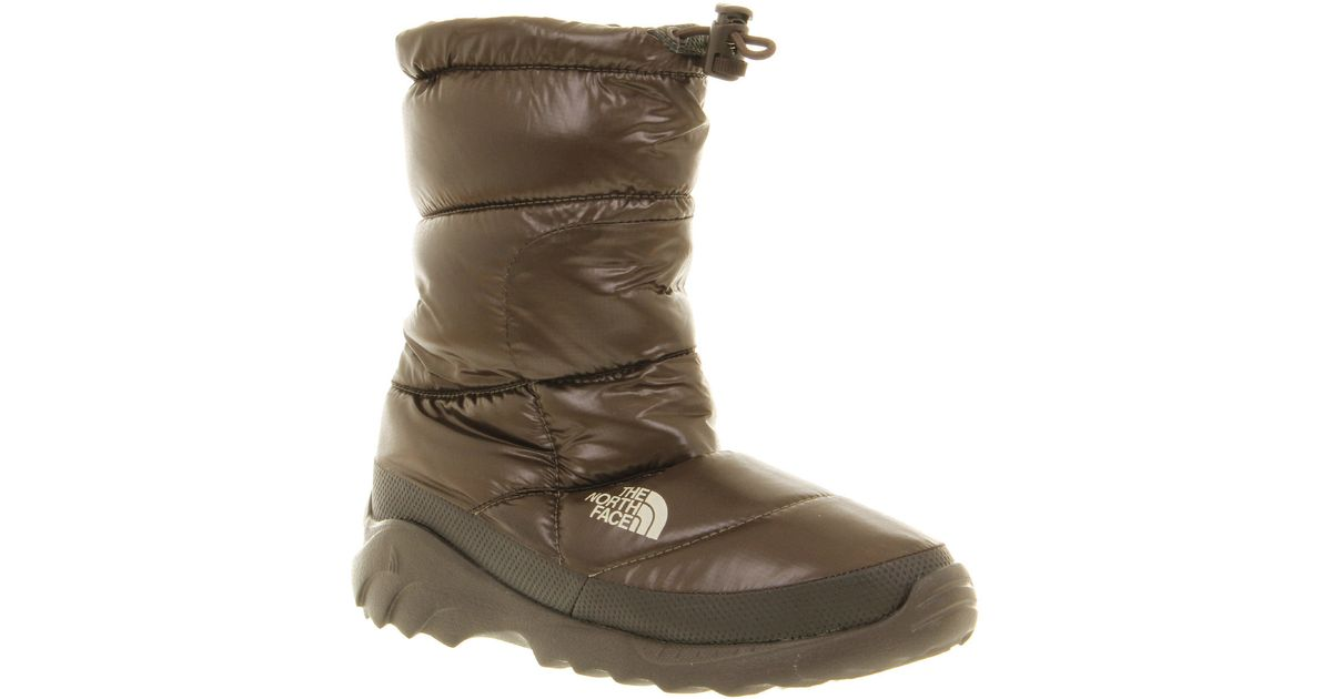 34fc9e068 The North Face - Wmns Nuptse Bootie Iii Shiny Brown - Lyst
