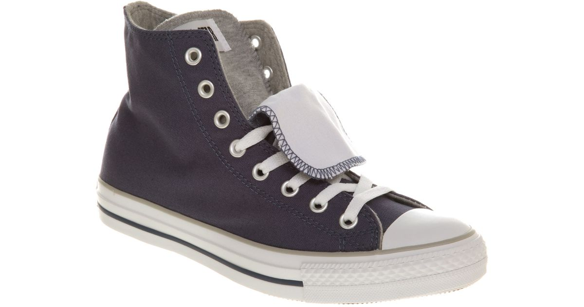 9cce7037d349 Lyst - Converse All Star Hi Double Tongue Faded Nvywhite in Blue for Men