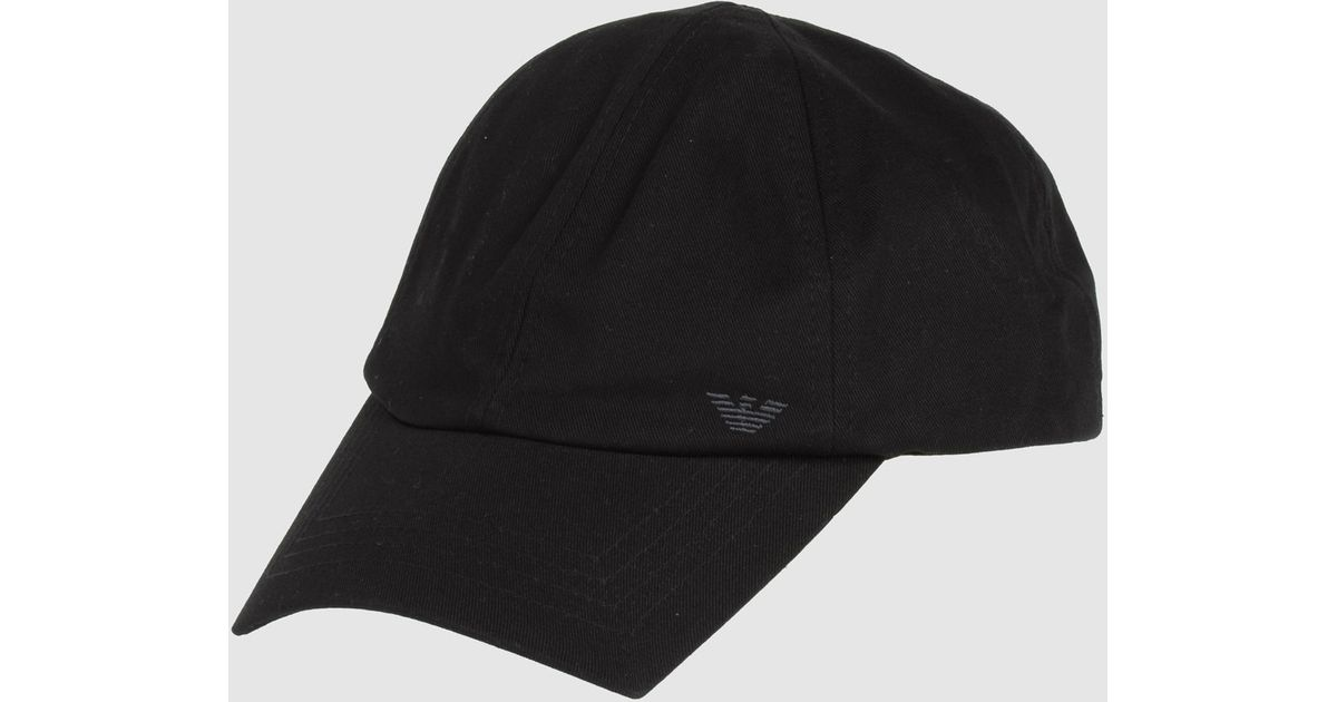 3eb81f8adad70 Giorgio Armani Hat in Black for Men - Lyst