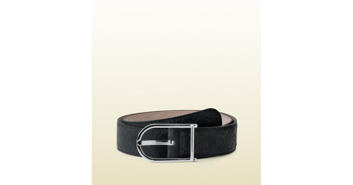 0d2d4889c Gucci Belt With Plain Buckle And Braided Detail in Black for Men - Lyst