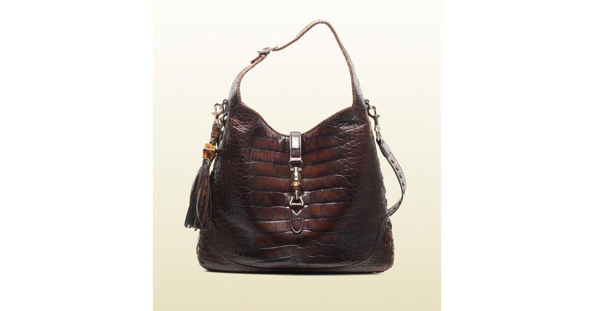 Gucci Brown Crocodile Shoulder Bag v0umzSWX