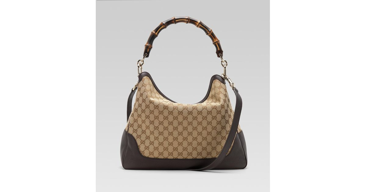e592669a2 Gucci Diana Bamboo Handle Shoulder Bag in Brown - Lyst