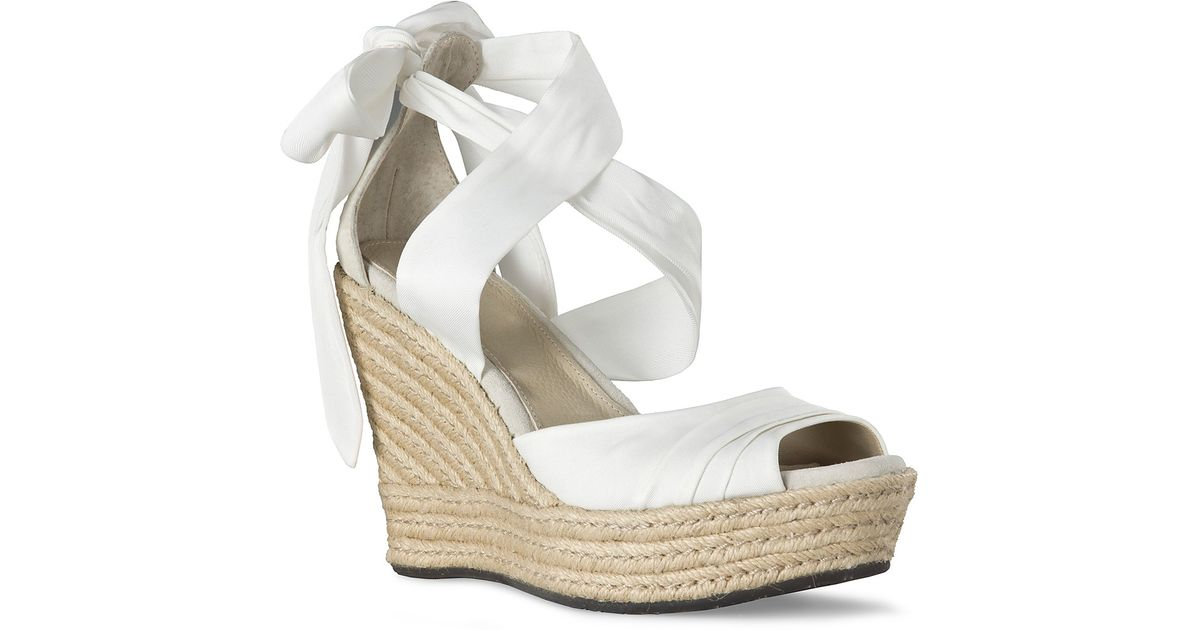 a0d6340c5237 Lyst - UGG Sandals Lucianna Wrap in White