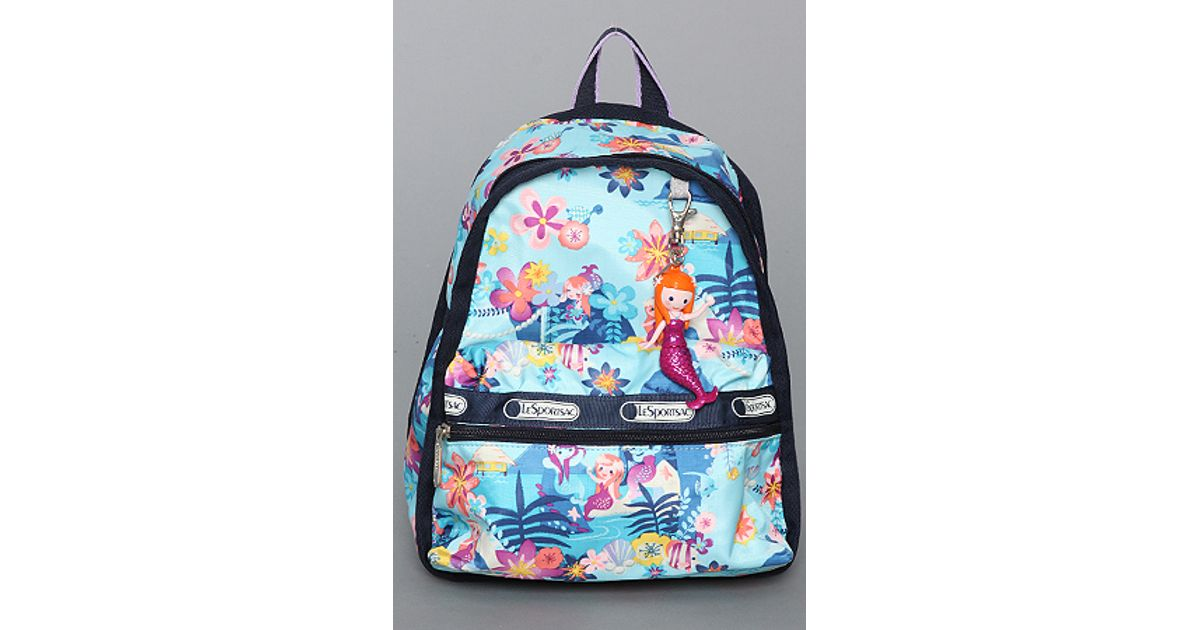 e72352092d7 Lyst - LeSportsac The Disney X Lesportsac Mini Basic Backpack with Charm in  Tahitian Dreams in Blue