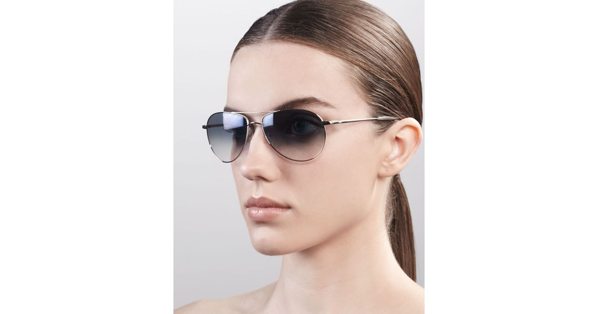 7ed75ca4f7e Lyst - Oliver Peoples Benedict Basic Aviators Silverchrome in Metallic for  Men