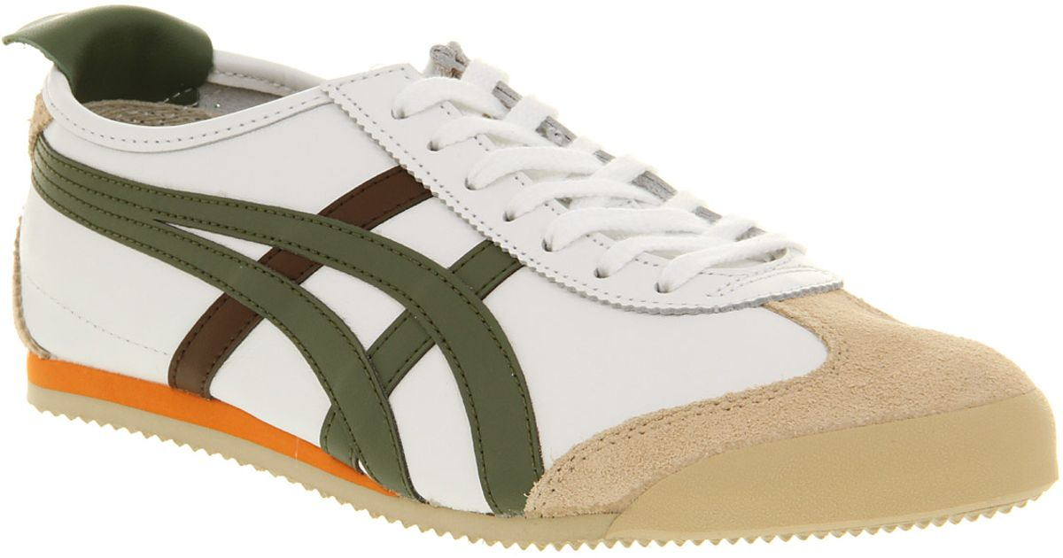 Onitsuka Tiger Mexico 66 White Olive in White for Men - Lyst fab8f347c