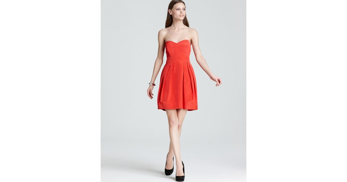 Shoshanna Megan Strapless Dress in Orange  Lyst
