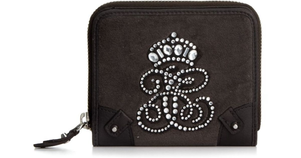18df63615c8 Lyst - Juicy Couture All Hail Small Zip Around Wallet in Gray