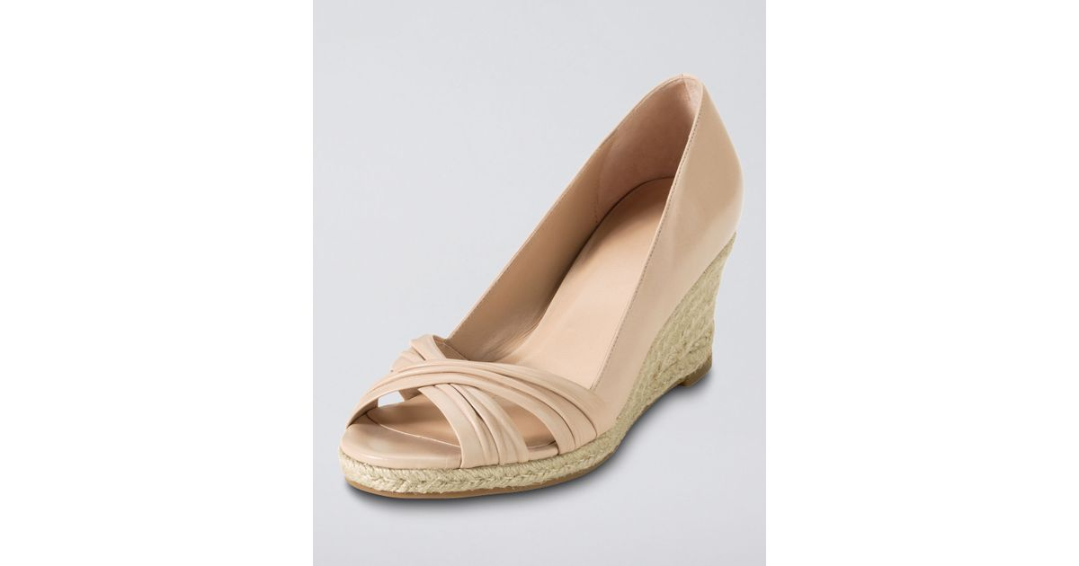f18ebb38de6 Lyst - Cole Haan Air Camila Open Toe Wedge in Natural